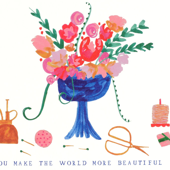 Mr. Boddington's Studio Flowers for You Mother's Day Card - GREER Chicago Online Stationery Shop