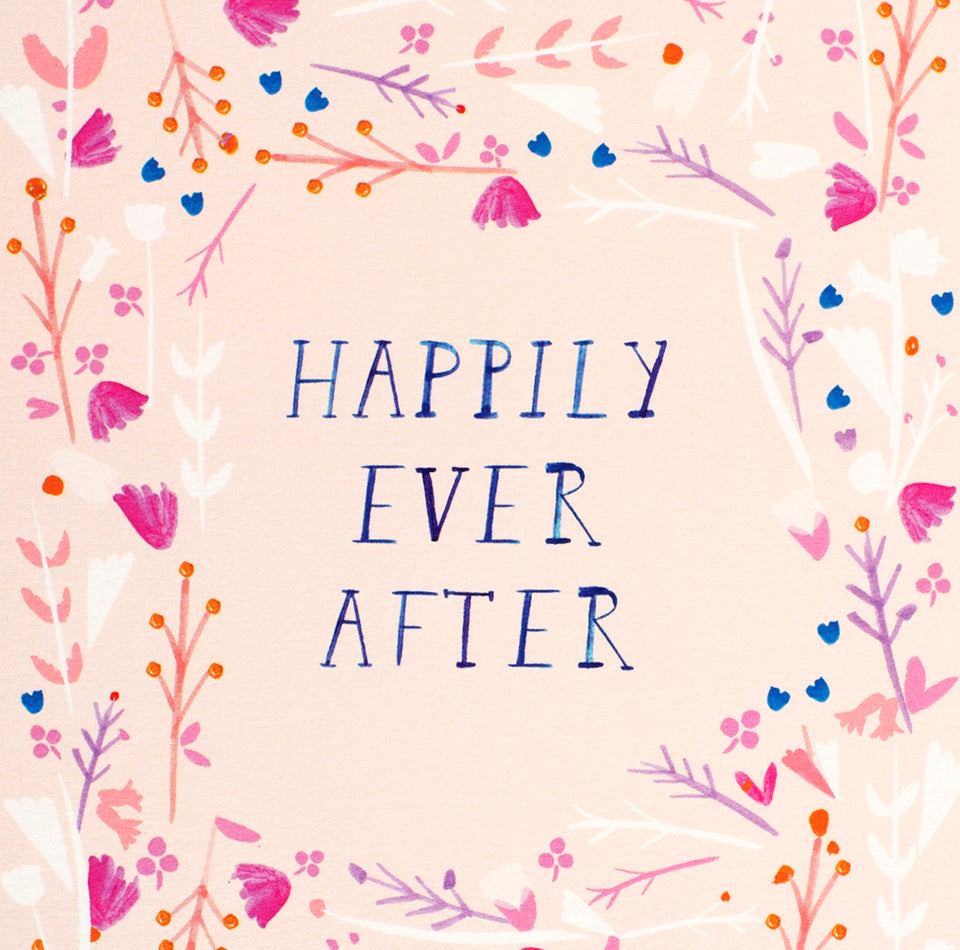 Mr. Boddington's Studio Happily Ever After Wedding Card