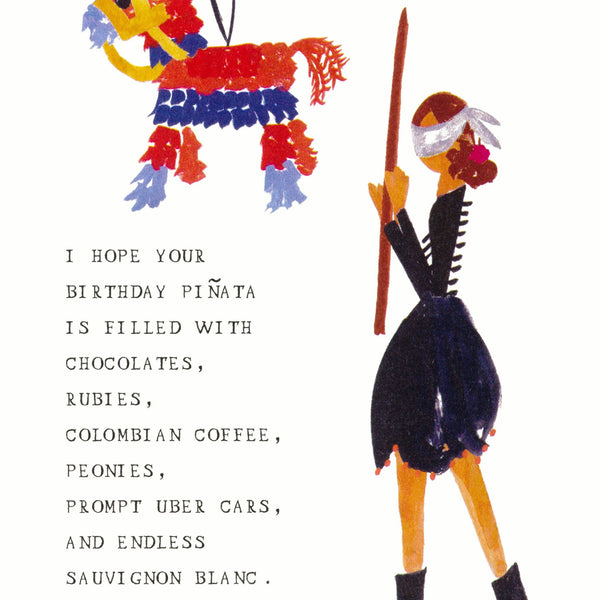 Mr. Boddington's Studio My Birthday Piñata Card - GREER Chicago Online Stationery Shop