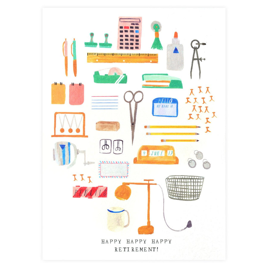 Mr. Boddington's Studio Office Supplies Retirement Greeting Card