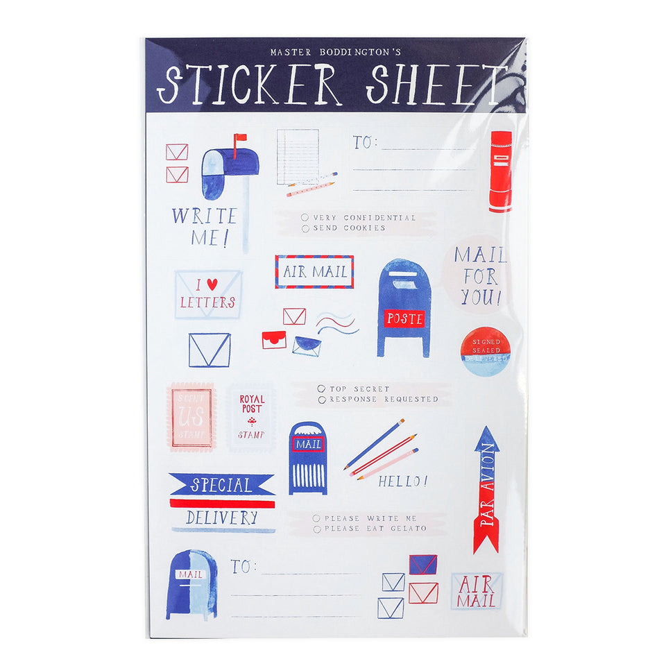 Mr. Boddington's Studio Post Office Sticker Sheet