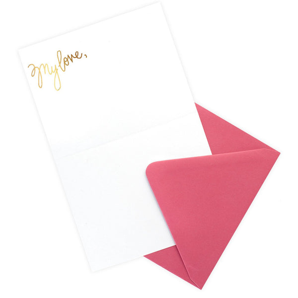 My Love Half Letter Sheet - GREER Chicago Online Stationery