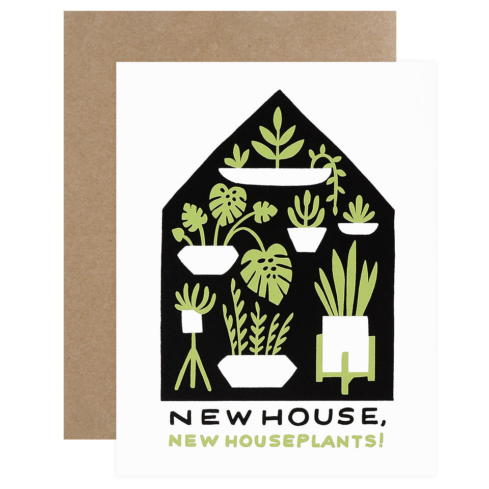 Worthwhile Paper Houseplants New Home Card