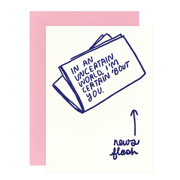 People I've Loved Newsflash Greeting Card - GREER Chicago Online Stationery Shop
