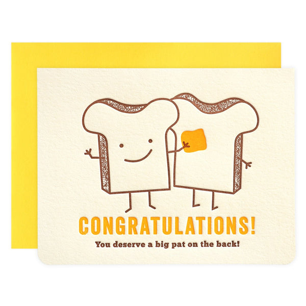 Pat of Butter Congratulations Greeting Card