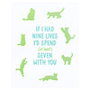 Loudhouse Creative Nine Lives Love Greeting Card
