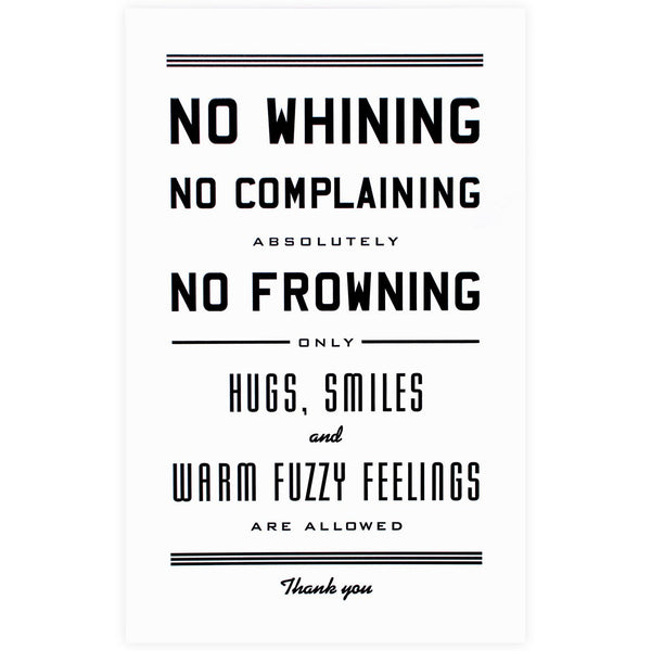 "No Whining Print<br> 11 x 17"" By Hammerpress - 1"