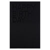 Noat Black Birthday Card
