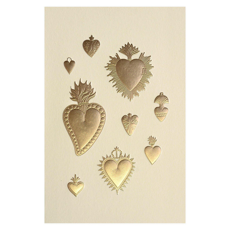 Noat Heart Milagros Greeting Card
