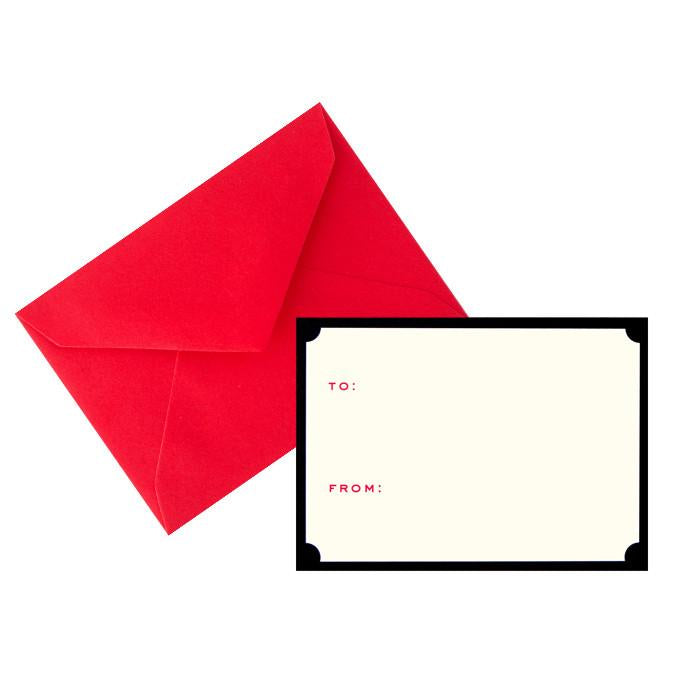 Tiny Card Notched Gift Enclosure By Snow & Graham - 2