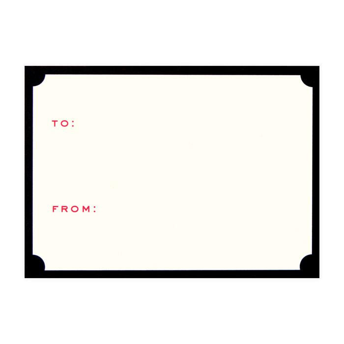 Tiny Card Notched Gift Enclosure By Snow & Graham - 1