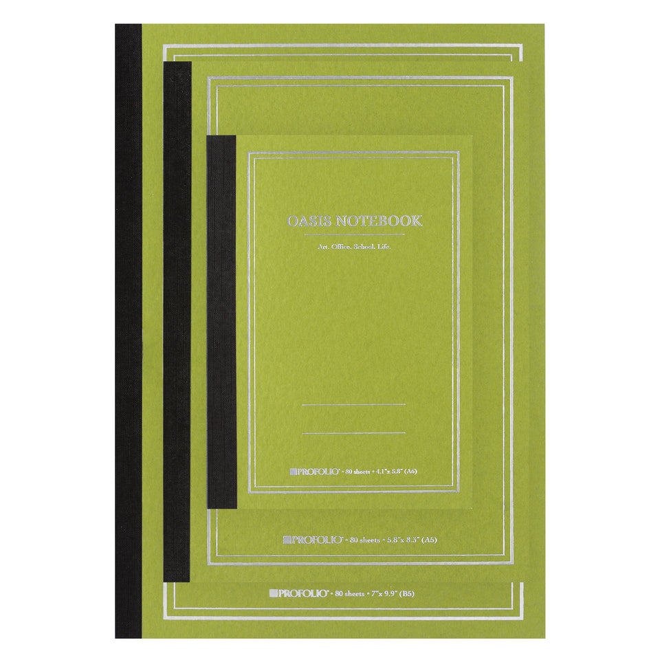 ProFolio Profolio Oasis Notebook Avocado | A6, A5 or B5