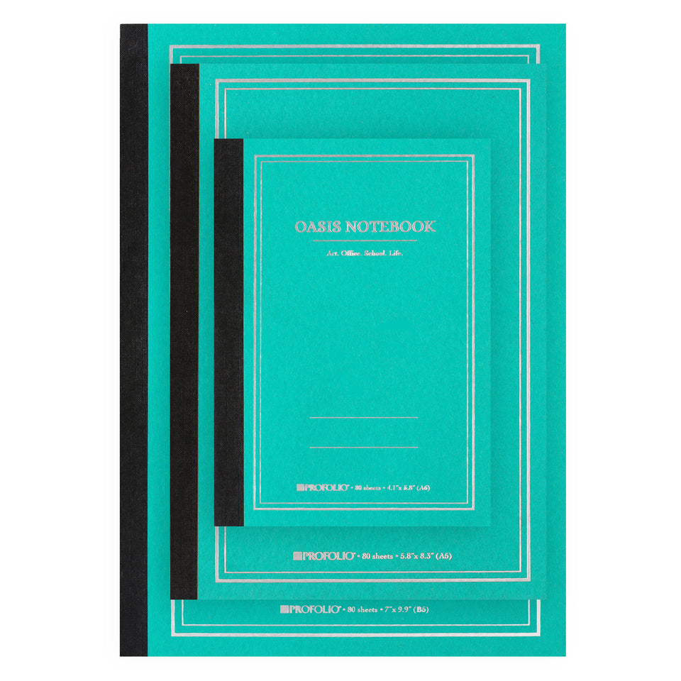 ProFolio Oasis Notebook Wintergreen | A6, A5 or B5