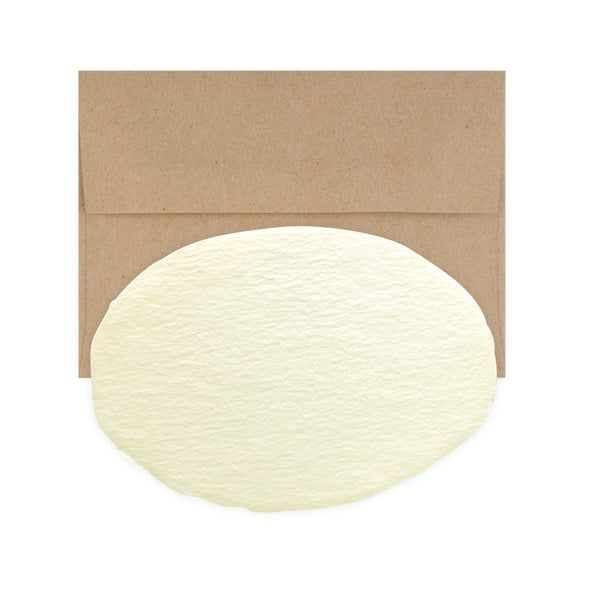 Handmade Paper Oval Flat Note Cards Boxed - GREER Chicago Online Stationery