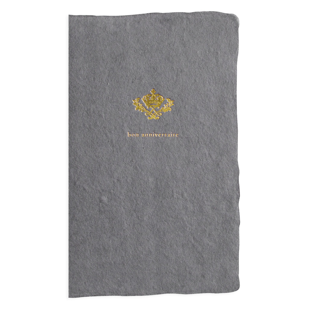 Oblation Papers & Press Bon Anniversaire Gold Crown Birthday Card