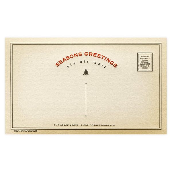 Seasons Greetings Holiday Telegram Boxed Cards By Oblation Papers & Press