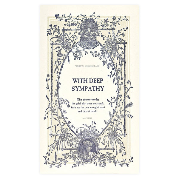 With Deep Sympathy Greeting Card - GREER Chicago Online Stationery