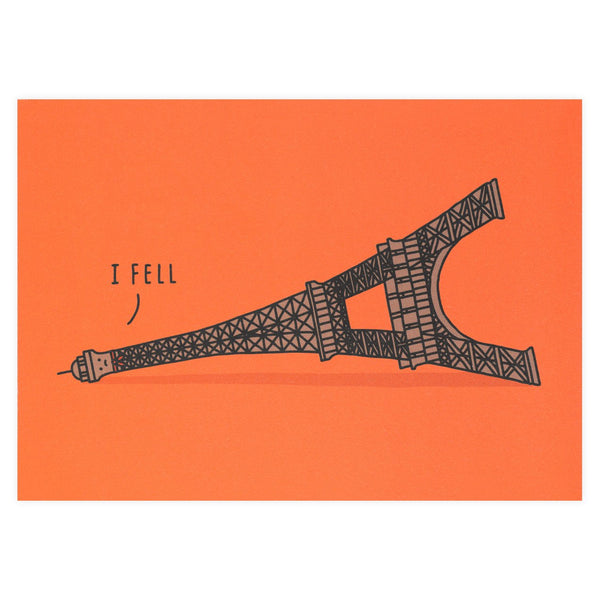 I Fell Greeting Card By Ohh Deer
