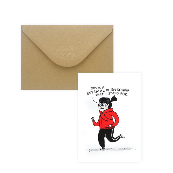 Gemma Correll Betrayal Greeting Card - GREER Chicago Online Stationery