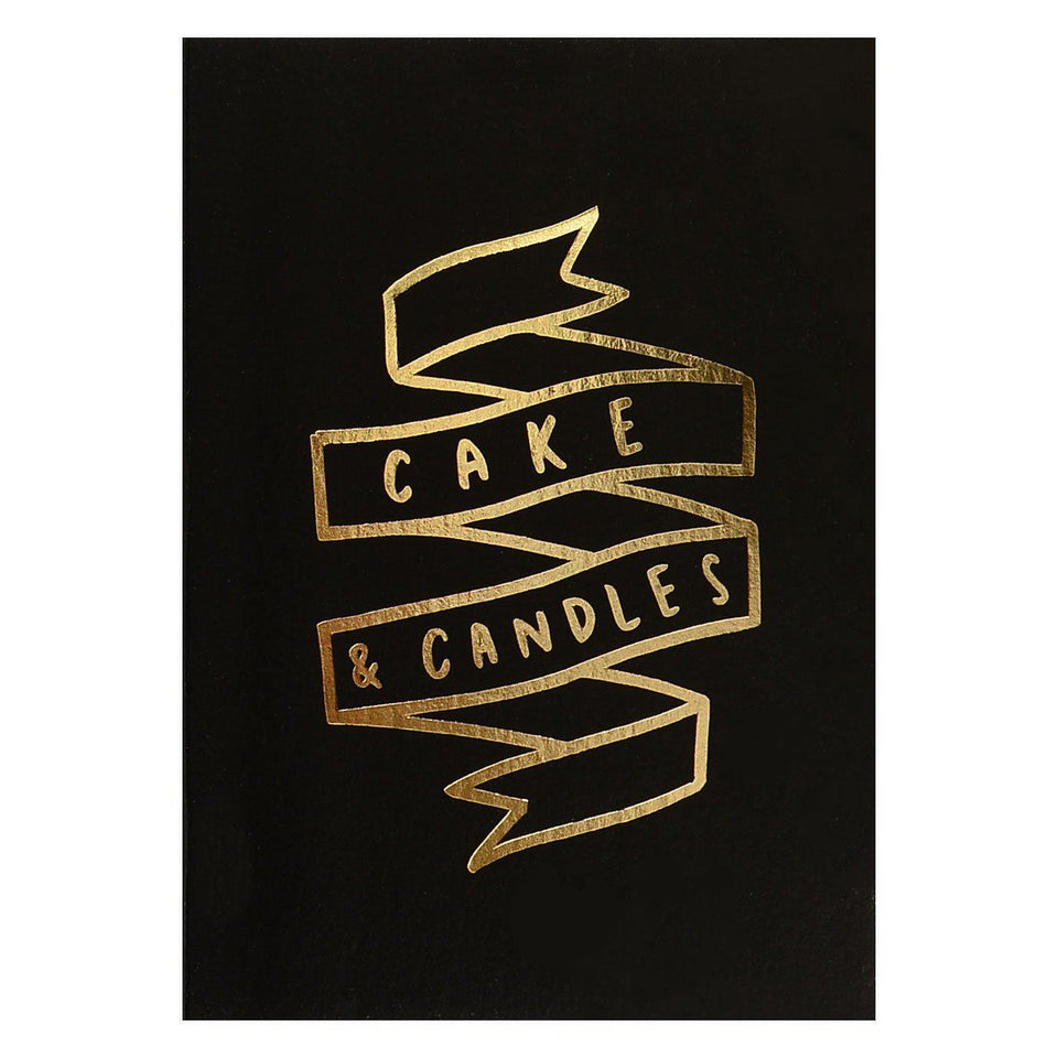 Old English Company Old English Co. Cake And Candles Birthday Card