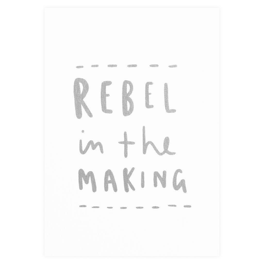 Old English Company Rebel in the Making New Baby Card