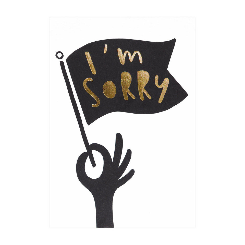 Old English Company I'm Sorry Flag Greeting Card