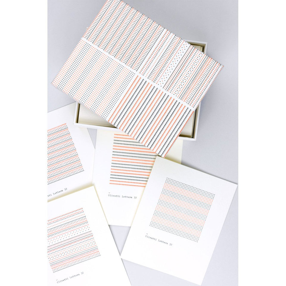 Princeton Architectural Press The Olivetti Pattern Series Folded Note Cards Boxed
