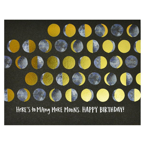 One Canoe Two Many Moons Birthday Card - GREER Chicago Online Stationery Shop