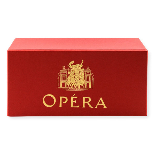 Classic Gift Box Opera Rouge Deckle Edge Flat Note Cards Ecru By G. Lalo - 1