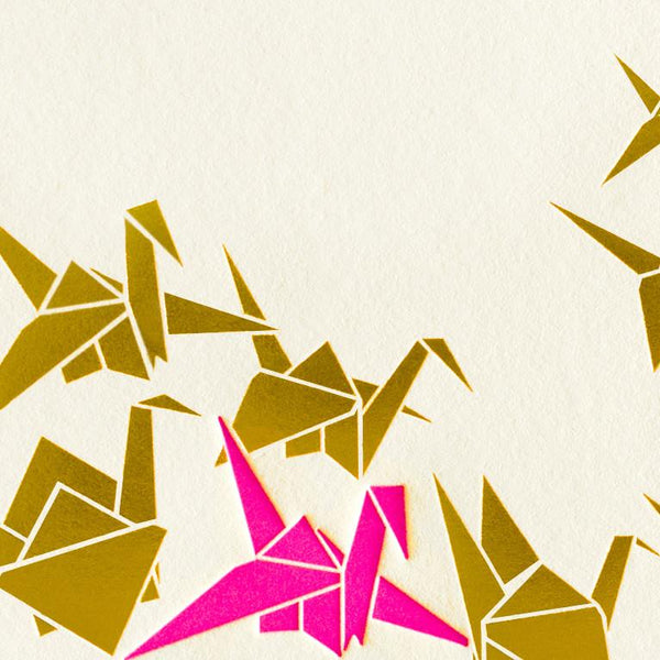Origami Cranes - GREER Chicago Online Stationery