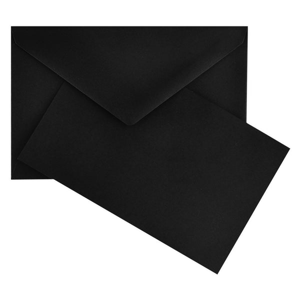 Color Vellum Small Flat Note Cards Boxed Black