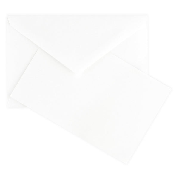 Color Vellum Small Flat Note Cards Boxed White