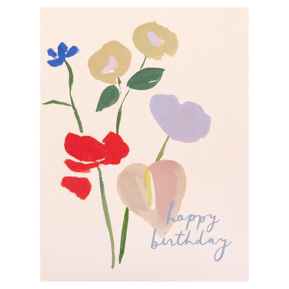 Our Heiday Happy Birthday Bouquet Card