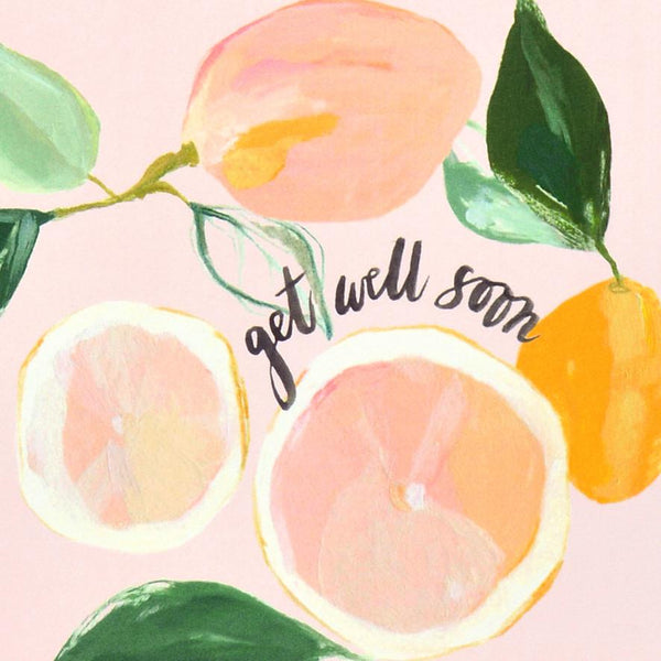 Our Heiday Citrus Get Well Soon Greeting Card - GREER Chicago Online Stationery Shop