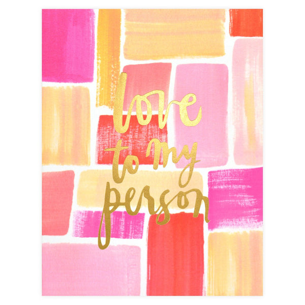 Our Heiday Love To My Person Greeting Card - GREER Chicago Online Stationery Shop