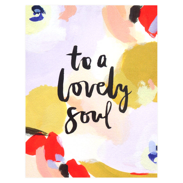 Our Heiday To a Lovely Soul Greeting Card - GREER Chicago Online Stationery Shop
