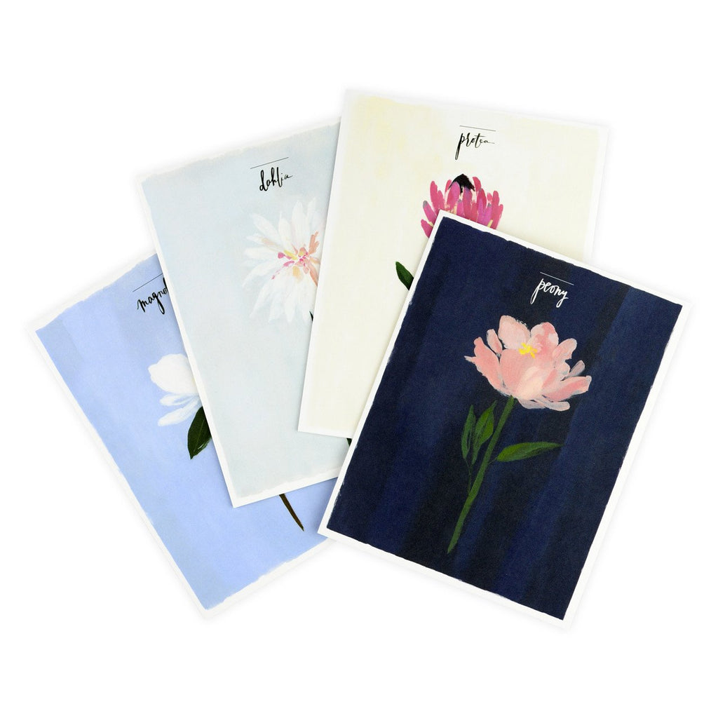Single Stem Assorted Folded Note Cards Boxed - GREER Chicago Online Stationery