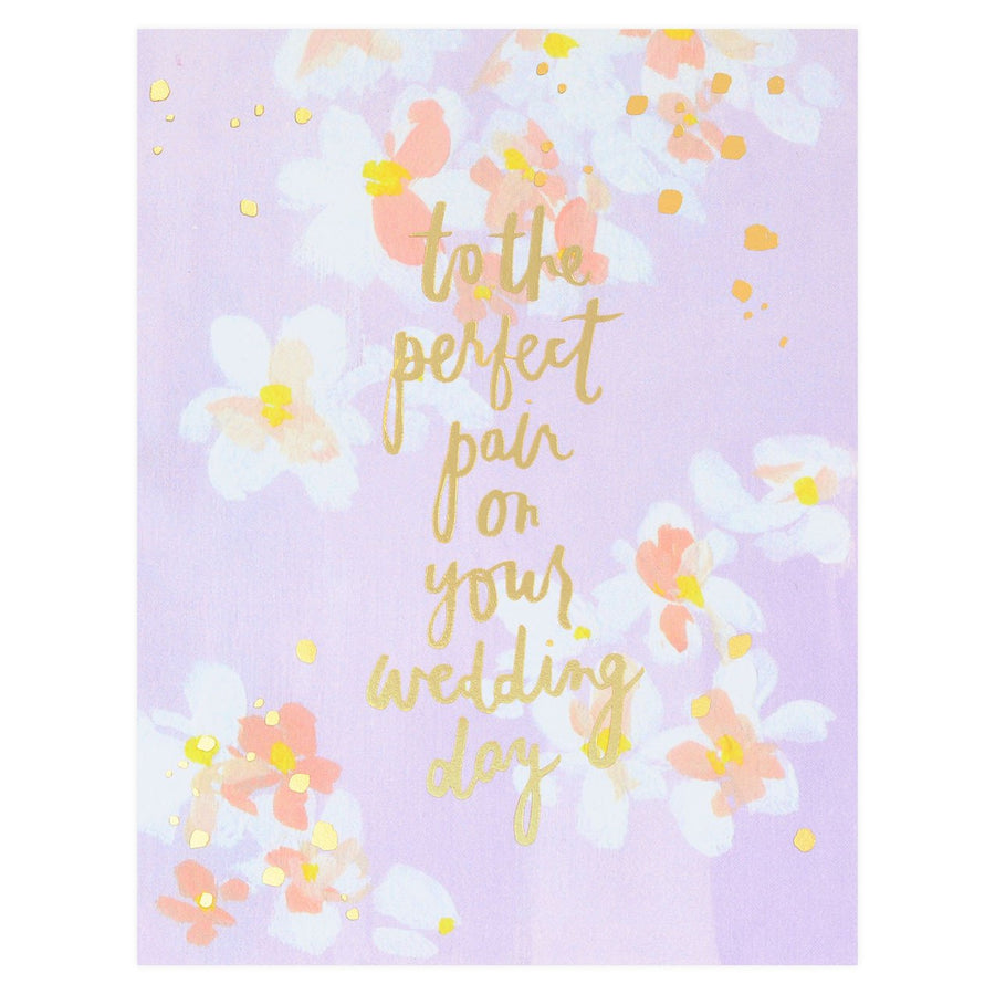 Our Heiday To The Perfect Pair Wedding Card - GREER Chicago Online Stationery Shop