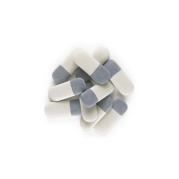 Ivory & Charcoal Oval Mini Erasers - GREER Chicago Online Stationery