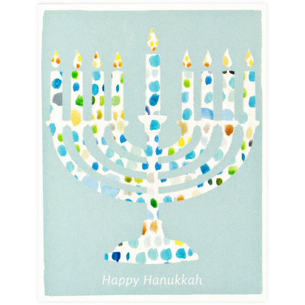 Dear Hancock Paint Palette Menorah - GREER Chicago Online Stationery Shop