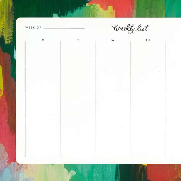 Painted Strokes Weekly Desk Pad By Rifle Paper Co. - 1