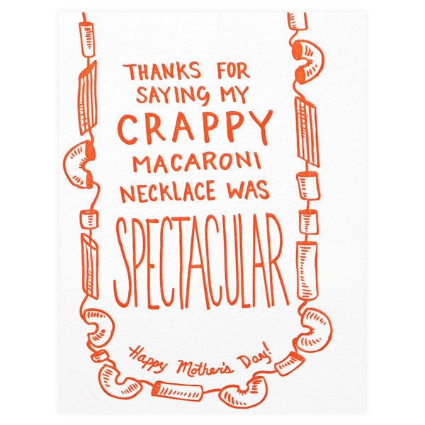 Macaroni Necklace Was Spectacular Mother's Day Card - GREER Chicago Online Stationery