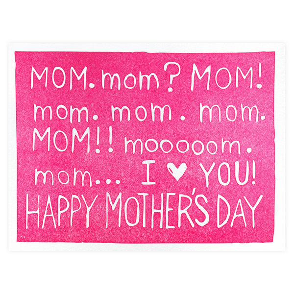 Need Mom Mother's Day Card - GREER Chicago Online Stationery