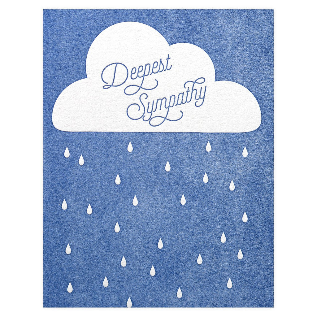 Paper Bandit Press Deepest Sympathy Greeting Card
