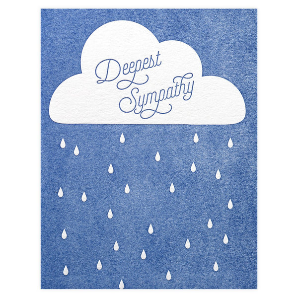 Deepest Sympathy Greeting Card By Paper Bandit Press
