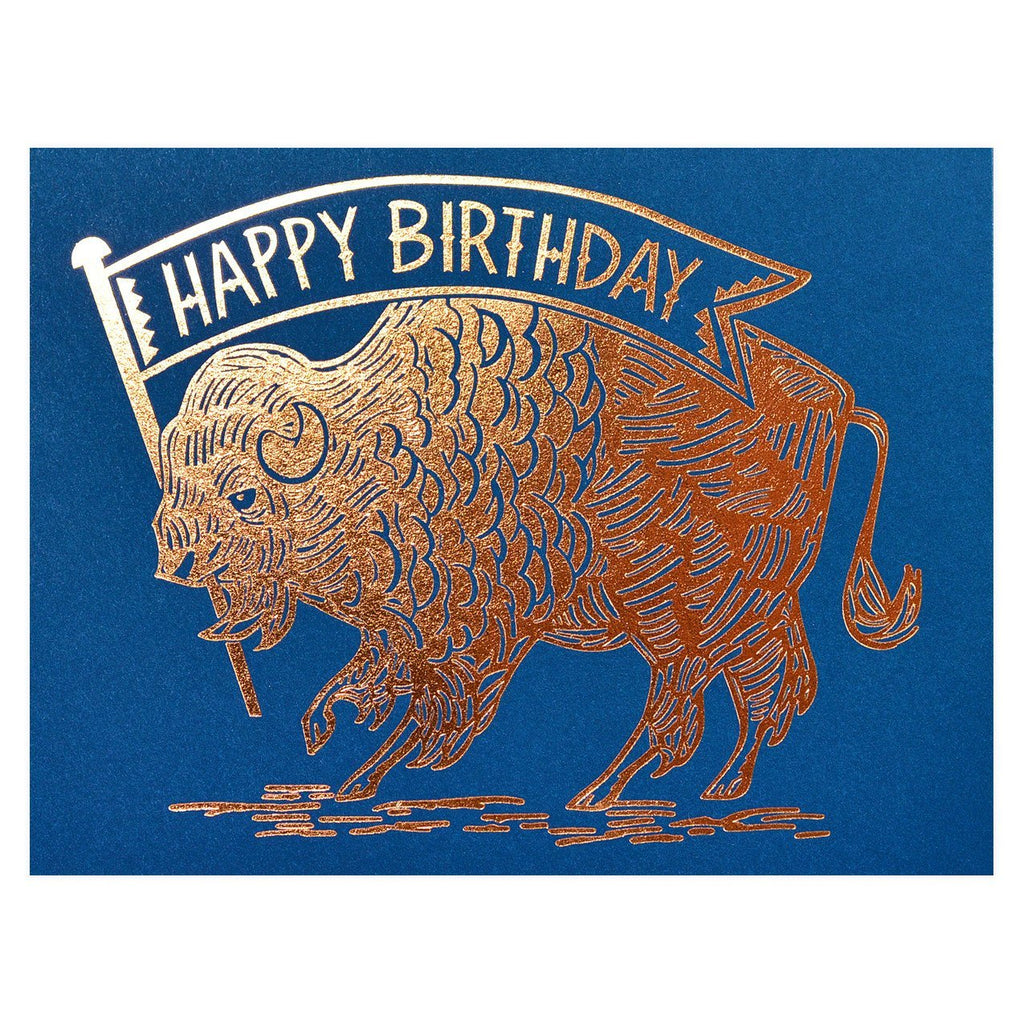 Birthday Buffalo Copper Greeting Card By Paper Parasol Press - 1