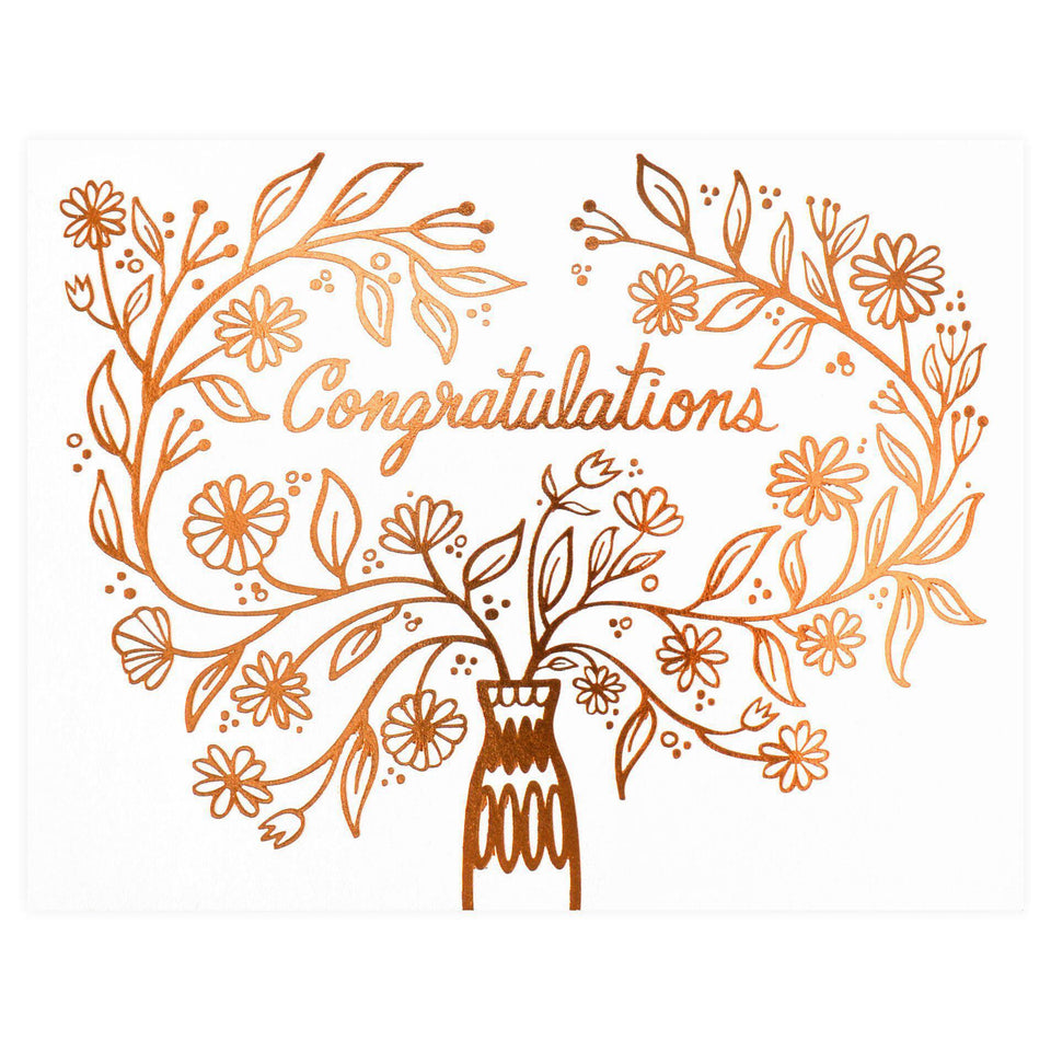 Paper Parasol Press Congratulations Bouquet Card
