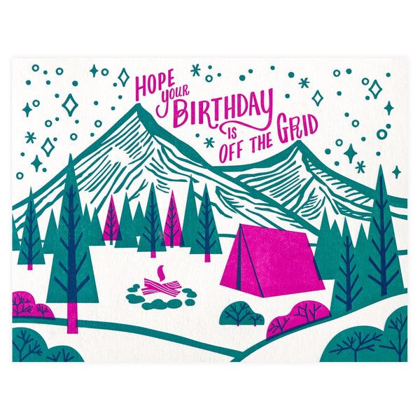 Paper Parasol Press Off the Grid Birthday Card - GREER Chicago Online Stationery Shop