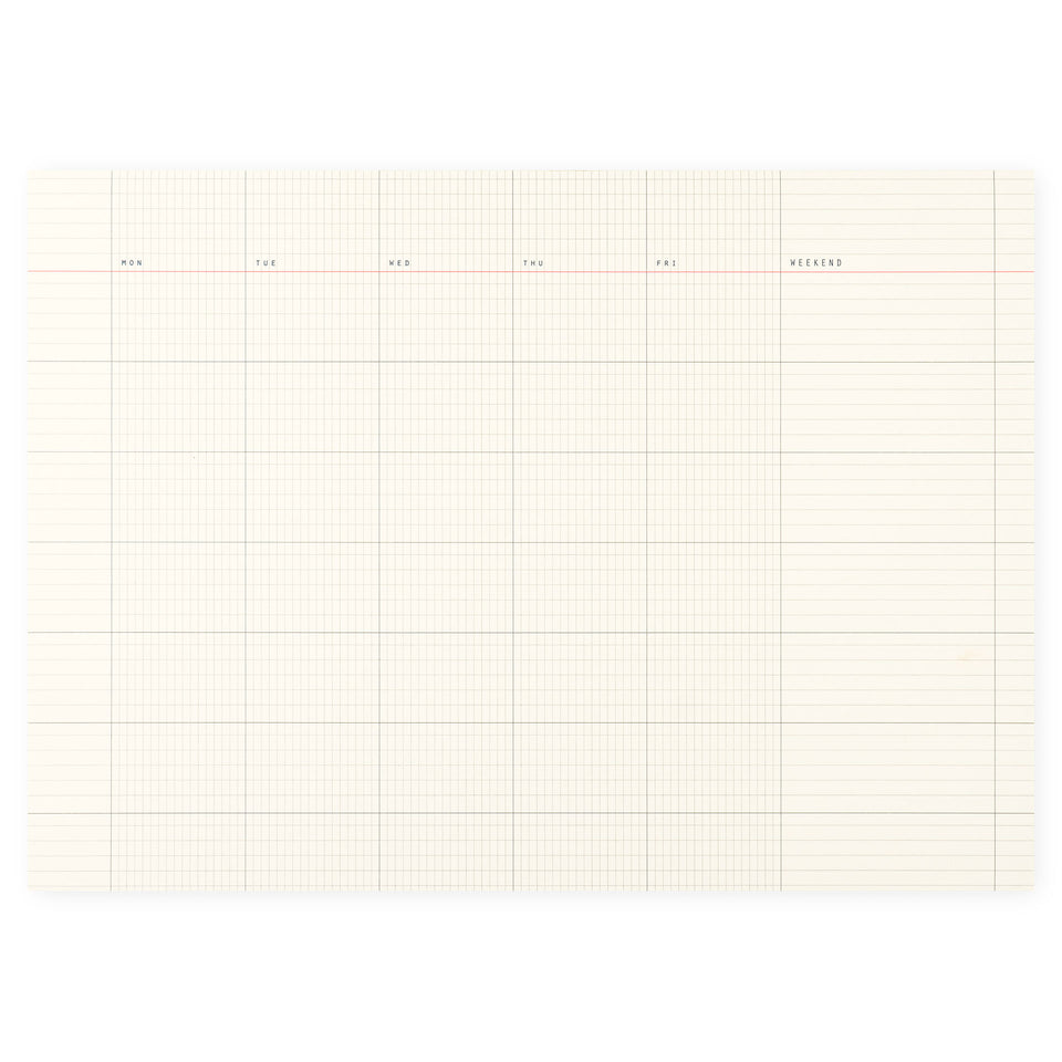 Paperways Desk Notepad Monthly 01 A4