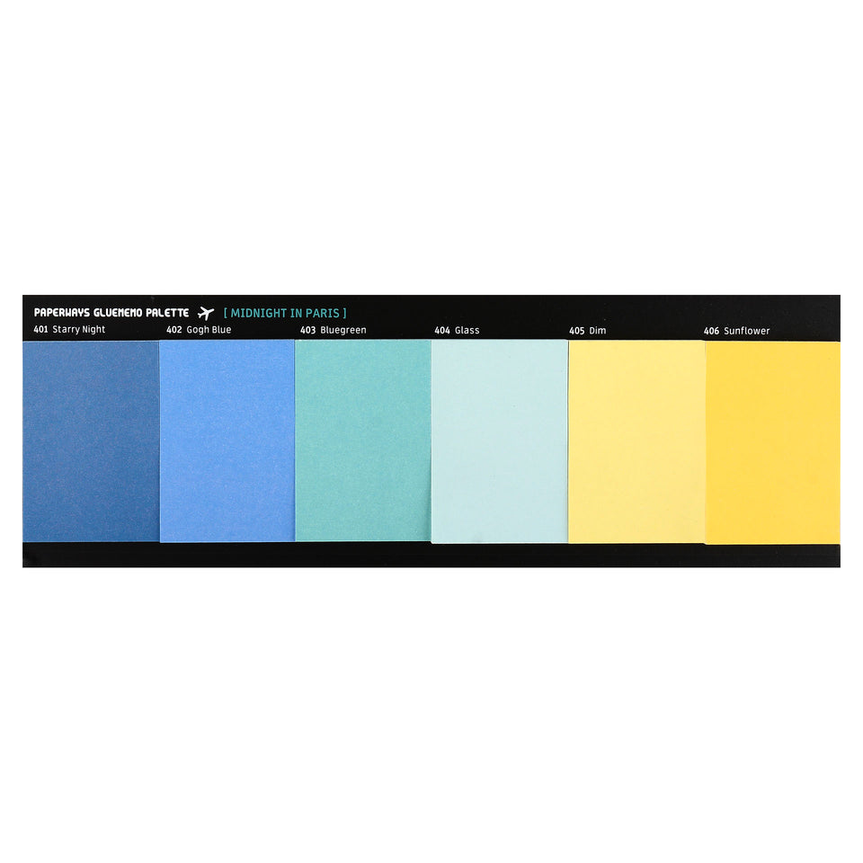 Paperways Paperways Gluememo Palette Sticky Notes Midnight in Paris